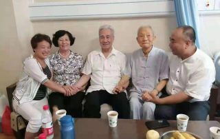 From right to left: Master Ma Chengjie, Master Cao Hefang, Prof. Pang Heming, Master Sang Lisuo, Master Bian Xiumei